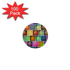 Multicolored Suns 1  Mini Magnets (100 Pack)  by linceazul