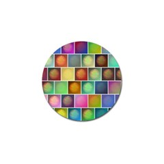 Multicolored Suns Golf Ball Marker (4 Pack) by linceazul
