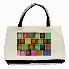 Multicolored Suns Basic Tote Bag by linceazul