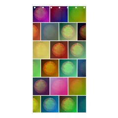 Multicolored Suns Shower Curtain 36  X 72  (stall)  by linceazul