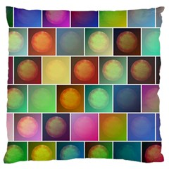 Multicolored Suns Large Cushion Case (two Sides) by linceazul