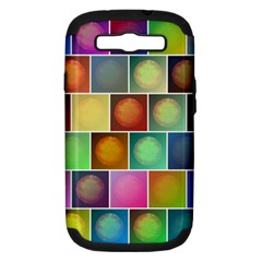 Multicolored Suns Samsung Galaxy S Iii Hardshell Case (pc+silicone) by linceazul