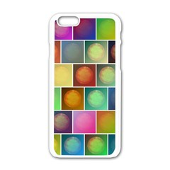 Multicolored Suns Apple Iphone 6/6s White Enamel Case by linceazul