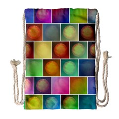 Multicolored Suns Drawstring Bag (large) by linceazul