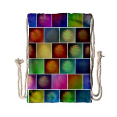 Multicolored Suns Drawstring Bag (small) by linceazul