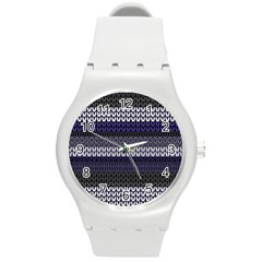 Pattern Round Plastic Sport Watch (m) by Valentinaart