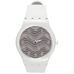 Abstraction Round Plastic Sport Watch (m) by Valentinaart