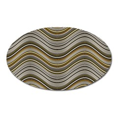 Abstraction Oval Magnet by Valentinaart