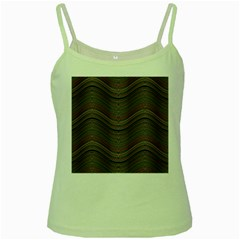 Abstraction Green Spaghetti Tank