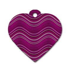 Abstraction Dog Tag Heart (one Side) by Valentinaart