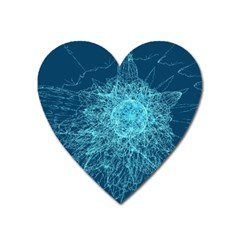 Shattered Glass Heart Magnet by linceazul
