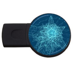 Shattered Glass Usb Flash Drive Round (2 Gb)