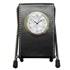 Abstraction Pen Holder Desk Clocks