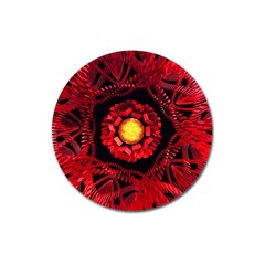 The Sun Is The Center Magnet 3  (round) by linceazul