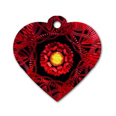 The Sun Is The Center Dog Tag Heart (one Side) by linceazul