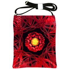 The Sun Is The Center Shoulder Sling Bags by linceazul