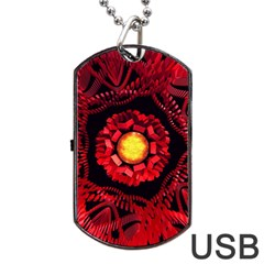 The Sun Is The Center Dog Tag Usb Flash (two Sides) by linceazul