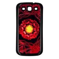 The Sun Is The Center Samsung Galaxy S3 Back Case (black) by linceazul