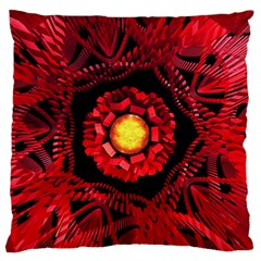 The Sun Is The Center Large Flano Cushion Case (one Side) by linceazul