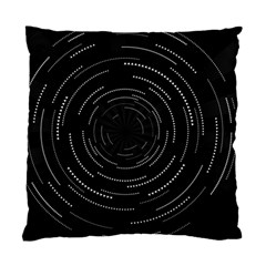 Abstract Black White Geometric Arcs Triangles Wicker Structural Texture Hole Circle Standard Cushion Case (one Side)