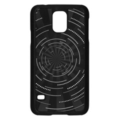 Abstract Black White Geometric Arcs Triangles Wicker Structural Texture Hole Circle Samsung Galaxy S5 Case (black) by Mariart