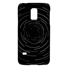 Abstract Black White Geometric Arcs Triangles Wicker Structural Texture Hole Circle Galaxy S5 Mini by Mariart