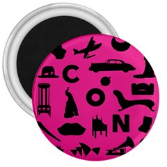 Car Plan Pinkcover Outside 3  Magnets by Mariart