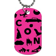 Car Plan Pinkcover Outside Dog Tag (two Sides) by Mariart