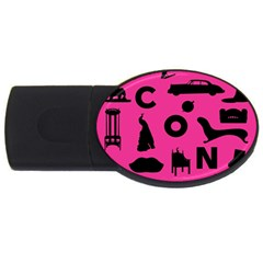 Car Plan Pinkcover Outside Usb Flash Drive Oval (4 Gb) by Mariart