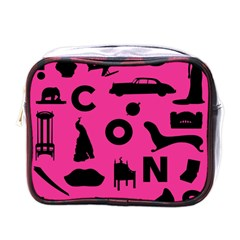 Car Plan Pinkcover Outside Mini Toiletries Bags by Mariart