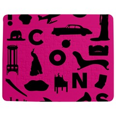 Car Plan Pinkcover Outside Jigsaw Puzzle Photo Stand (rectangular) by Mariart
