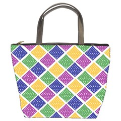 African Illutrations Plaid Color Rainbow Blue Green Yellow Purple White Line Chevron Wave Polkadot Bucket Bags by Mariart