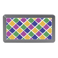 African Illutrations Plaid Color Rainbow Blue Green Yellow Purple White Line Chevron Wave Polkadot Memory Card Reader (mini) by Mariart