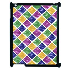 African Illutrations Plaid Color Rainbow Blue Green Yellow Purple White Line Chevron Wave Polkadot Apple Ipad 2 Case (black)