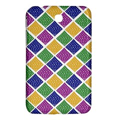 African Illutrations Plaid Color Rainbow Blue Green Yellow Purple White Line Chevron Wave Polkadot Samsung Galaxy Tab 3 (7 ) P3200 Hardshell Case  by Mariart