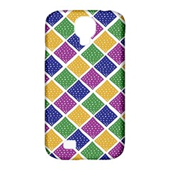 African Illutrations Plaid Color Rainbow Blue Green Yellow Purple White Line Chevron Wave Polkadot Samsung Galaxy S4 Classic Hardshell Case (pc+silicone) by Mariart