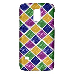 African Illutrations Plaid Color Rainbow Blue Green Yellow Purple White Line Chevron Wave Polkadot Galaxy S5 Mini