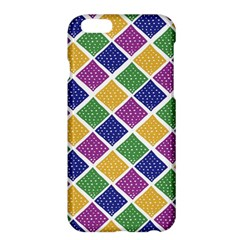 African Illutrations Plaid Color Rainbow Blue Green Yellow Purple White Line Chevron Wave Polkadot Apple Iphone 6 Plus/6s Plus Hardshell Case by Mariart