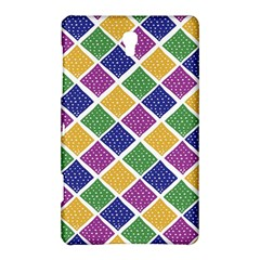 African Illutrations Plaid Color Rainbow Blue Green Yellow Purple White Line Chevron Wave Polkadot Samsung Galaxy Tab S (8 4 ) Hardshell Case  by Mariart