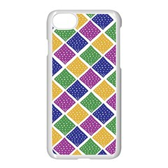 African Illutrations Plaid Color Rainbow Blue Green Yellow Purple White Line Chevron Wave Polkadot Apple Iphone 7 Seamless Case (white) by Mariart