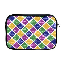African Illutrations Plaid Color Rainbow Blue Green Yellow Purple White Line Chevron Wave Polkadot Apple Macbook Pro 17  Zipper Case by Mariart