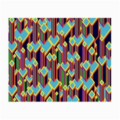Building City Plaid Chevron Wave Blue Green Small Glasses Cloth (2 Side) by Mariart