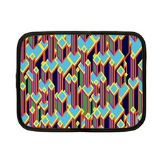 Building City Plaid Chevron Wave Blue Green Netbook Case (small)  by Mariart