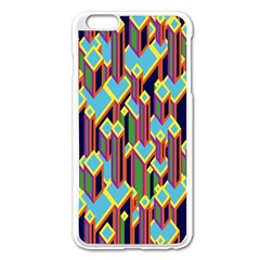 Building City Plaid Chevron Wave Blue Green Apple Iphone 6 Plus/6s Plus Enamel White Case by Mariart