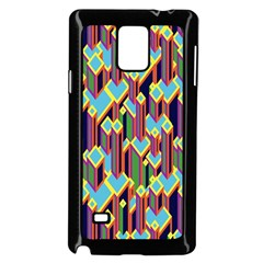 Building City Plaid Chevron Wave Blue Green Samsung Galaxy Note 4 Case (black) by Mariart