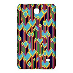 Building City Plaid Chevron Wave Blue Green Samsung Galaxy Tab 4 (8 ) Hardshell Case  by Mariart
