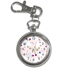 Cheers Polkadot Circle Color Rainbow Key Chain Watches by Mariart