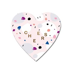 Cheers Polkadot Circle Color Rainbow Heart Magnet