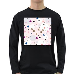 Cheers Polkadot Circle Color Rainbow Long Sleeve Dark T Shirts