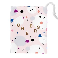 Cheers Polkadot Circle Color Rainbow Drawstring Pouches (xxl) by Mariart